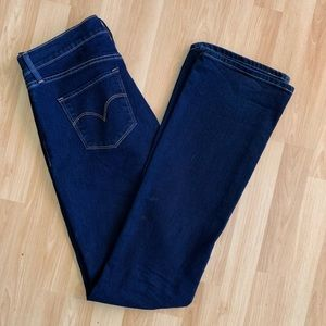 Levi's 315 shaping bootcut jeans sz 28 dark wash